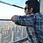 Dubai bird's eye view atop the bruj khalifa