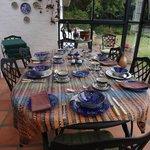 Breakfast iin the conservatory