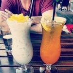 Jack Fruit Smoothie and Lemon Iced Tea. So good!