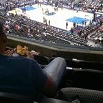 View from my seat at AAC Platinum Corner Level
