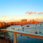 View of Sliema at the Rooftop Poolside