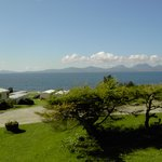 View towards Jura from top of the site