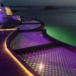 Ibiza Beach club at night