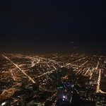 chicago at night from willys tower