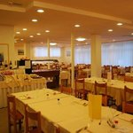 Sala ristorante dell'hotel