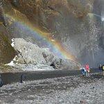 Rainbow at Skogafoss falls