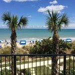 Blick auf den hoteleigenen Strand