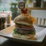 handmade burger Co, Stuffed Burger