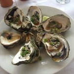 Raw Oysters with an Asian sauce