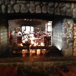 Fire place at Lone Eagle Grille