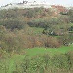Dinas Bran after light snow
