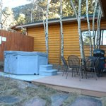 Outdoor Jacuzzi/ grilling area