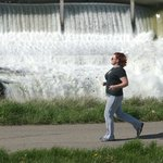 Runner at Rainbow Dam