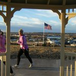 Runner at Warden Park Gazebo