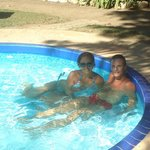 Curtindo a piscina