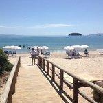 la spiaggia davanti alla pausada