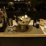 Club lounge alcohol corder.