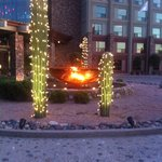 Evening in front of resort