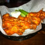 Great wings. Perfectly cooked. Good hot sauce.