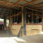 The bar - complete with swing sets