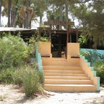 Entrance to bar from the beach
