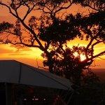 sunset at the serengeti