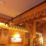 Detalle del funicular en el comedor/brasserie