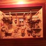 Detalle de la decoración del comedor