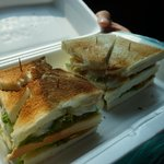 Sandwiches Phka Villa packed for our trip