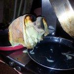 Así acabo la raclette
