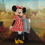 My daughter with mini mouse at the hotel santa fe