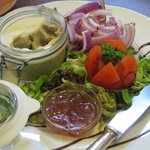 The goose liver pate, with marmelade for the toast