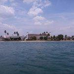 Hotel-widok z łodzi