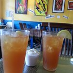 Tropical iced tea was yummy with ice cream added to make a float
