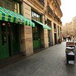 The terrace on the Passeig del Born