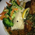 Red Snapper/mashed/vegi mix