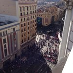 View from roof to Gran Via