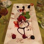 Kunstverk av en dessert