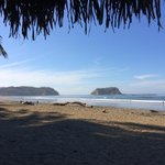 The southern end of Playa Samara
