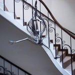 décoration dans l'escalier