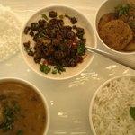 Kurkure bhindi and Sindhi platter