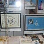 Masonic flags that flew on the moon. All moon walking astronauts were Masons