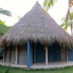 Each indigenous-style house holds two rooms