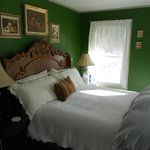 The Green Room, with a very comfortable Queen Bed and large Tub