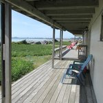 Back deck overlooking the beach.