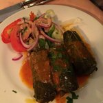 Fabulous stuffed vine leaves.