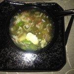 Zuppa granchio e asparagi