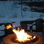 Bonfire outside of Mansfield House