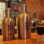 Two Growlers and a very dark beer