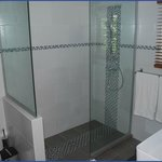 Very large walk-in shower in our 75m2 Penthouse